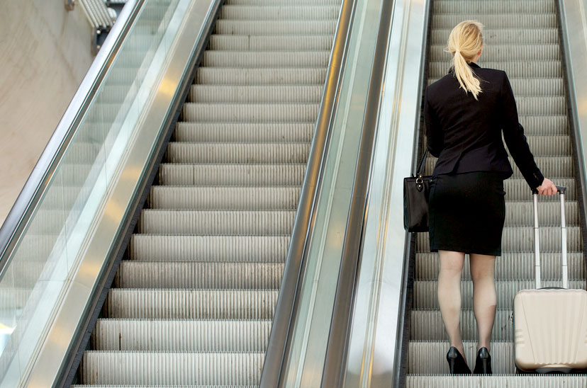 Rolltreppe im Business-Bereich